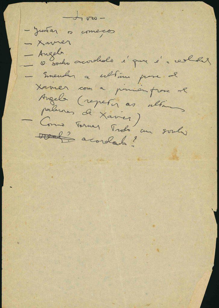 """Manuscrito original de """"Un soplo de vida"""". Fotografía del Archivo Clarice Lispector en el Instituto Moreira Salles."""